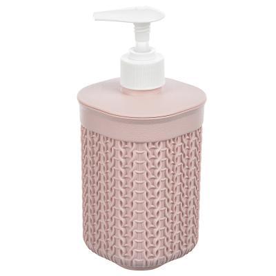 463-953 Дозатор для жидкого мыла вязаный, полипропилен, 19х8,5х8,5 см, 3 цвета