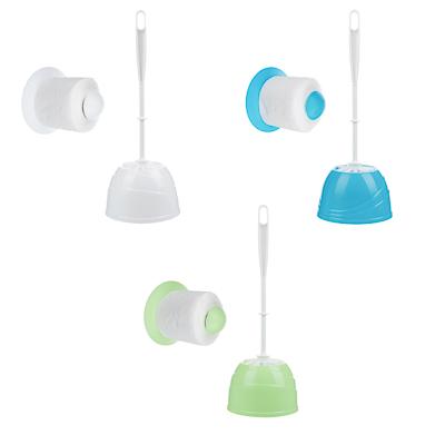 """463-960 Набор для туалета 2 пр. """"Классика"""" (ёрш, держатель для туалетной бумаги), пластик, 3 цвета"""