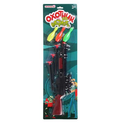 261-694 ИГРОЛЕНД Ружье игровое с присосками и кеглями, 7пр., PP, PVC, 15х52х2,5см