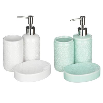 """463-969 VETTA Набор для ванной """"Соблазн"""", 3 предмета, керамика, 2 дизайна"""