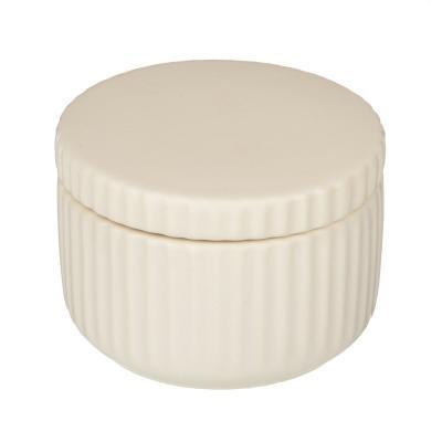 """463-974 VETTA Контейнер для ватных дисков/палочек """"Вертикаль"""", керамика, 3 цвета"""