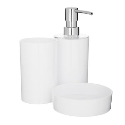 "463-982 VETTA Набор для ванной ""Глянец"", 3 предмета, пластик, 2 цвета"