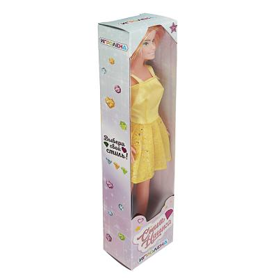 267-837 ИГРОЛЕНД Кукла в стильном платье, 29см, цветные волосы, ABS, полиэстер, 6,5х29,5х4,5см, 6 дизайнов