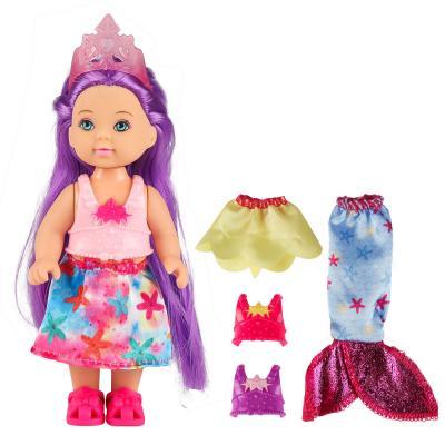 267-849 ИГРОЛЕНД Кукла-малышка в виде русалочки, с нарядами, 11,5см, ABS, полиэстер, 16х18х4см, 3 дизайна
