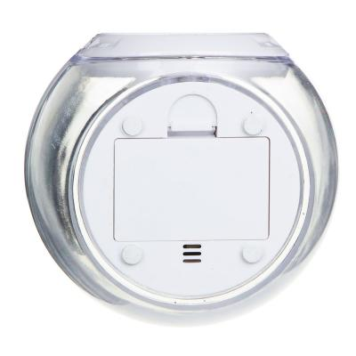 529-185 LADECOR CHRONO Будильник с ЖК-дисплеем, 3хAAA, терм-р, звуки, 10,5х9,5х8,2см, пластик, 7реж свеч
