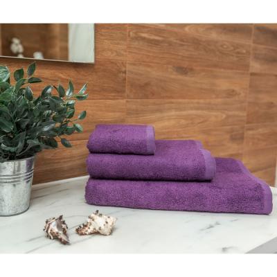 484-006 PROVANCE Бамбук Полотенце махровое, 70% бамбук, 30% хлопок, 70х130см, 400гр/м, фиолет