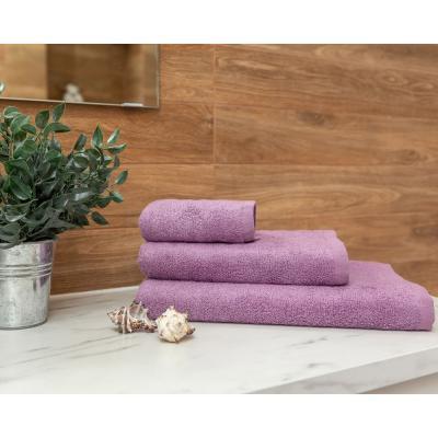 484-008 PROVANCE Бамбук Полотенце махровое, 70% бамбук, 30% хлопок, 70х130см, 400гр/м, сирень