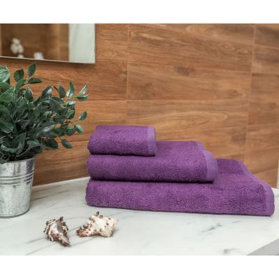 484-014 PROVANCE Бамбук Полотенце махровое, 70% бамбук, 30% хлопок, 30х50см, 400гр/м, фиолет, сирень