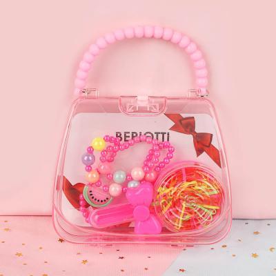 316-352 Набор бижутерии BERIOTTI: ожерелье, браслет, набор резинок в футляре,  6 дизайнов
