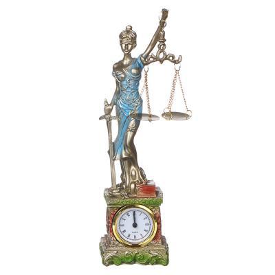 509-868 LADECOR Часы-статуэтка в виде богини, полистоун, 27х7х5см, 1хAG13