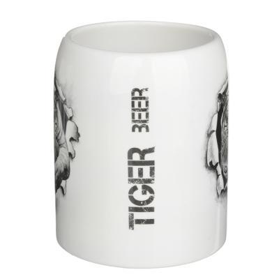 """806-016 Кружка пивная 550мл, керамика, 4 дизайна, """"Царь зверей"""", подар. упаковка"""
