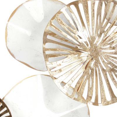597-079 Панно декоративное, металл, 76,2x40x10,8см, арт 2