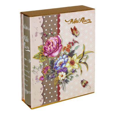 401-017 Фотоальбом на 100 фото, 20,5х26,5см, 10х15см, PP, картон, 4 дизайна