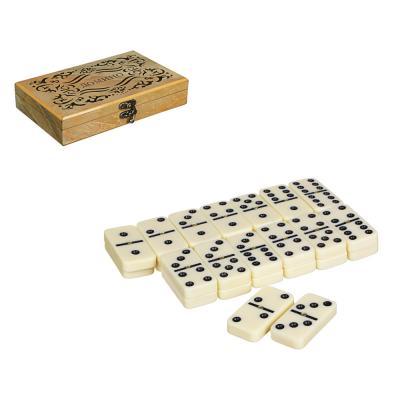 537-007 LDGames Домино в подарочной коробке, дерево, 20х13х4см