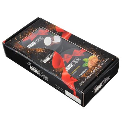 """022-035 Набор подарочный ЮниLook: скраб для тела """"Миндаль"""" 200 г + крем """"Кокос"""" 150 мл"""