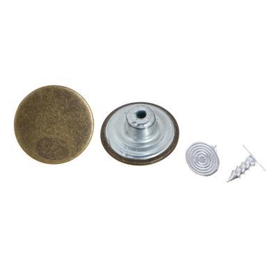 308-263 Набор клепок для одежды с креплениями 8шт, 1,7см, сплав, 6 дизайнов
