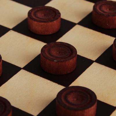 539-035 Шашки деревянные в деревянной доске, 29x14,5x3,8см