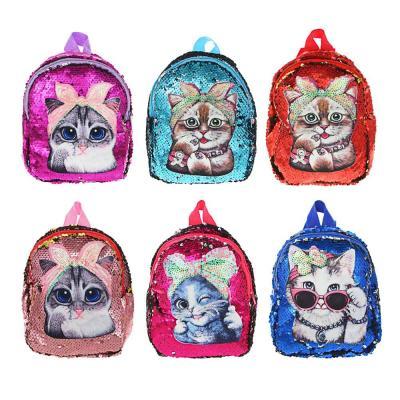 294-136 ИГРОЛЕНД Рюкзак детский, разноцветные пайетки, пластик, полиэстер, 19х20см, 4 дизайна
