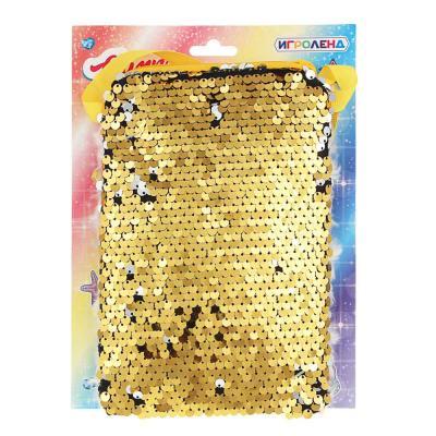 294-137 ИГРОЛЕНД Сумка детская, разноцветные пайетки, пластик, полиэстер, 11,5х15см, 6 цветов