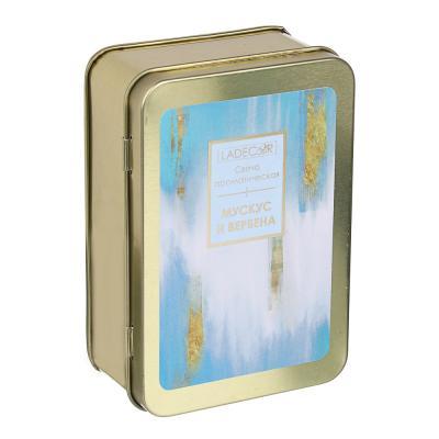 508-633 LADECOR Свеча ароматическая с в жестяной шкатулке, 11,5x8x4,3, 170г, 3 вида