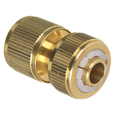 """169-036 INBLOOM PROF+ Коннектор c аквастопом для шланга d1/2"""", латунь  MY-302"""