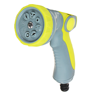 161-017 INBLOOM Пистолет садовый для полива, 8 режимов, регулировка давления, ABS+TPR