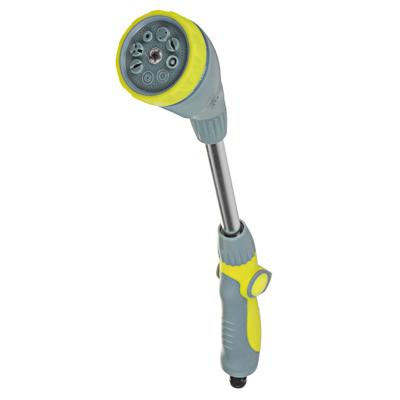 161-019 INBLOOM BY Пистолет-штанга садовый для полива, 8 режимов, регулировка давления, ABS+TPR+аллюм