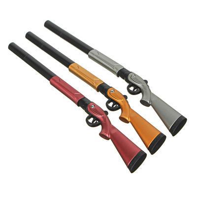 591-055 Ручка шариковая синяя, в форме ружья, подвижный приклад, пластик, 19,5см, 3 цв.корпуса