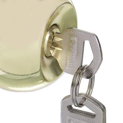 """673-046 ЕРМАК комплект дверных ручек-кноб """"ЗОЛОТО"""" с ключом"""