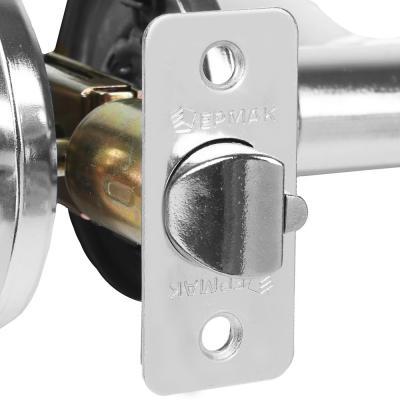 """673-053 Комплект дверных ручек """"ХРОМ"""", с ключом"""