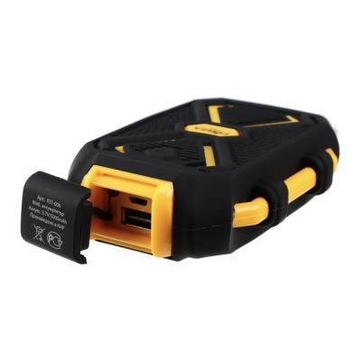 Аккумулятор мобильный, 5000мАч, IP67 (ударопр, влаго-водонепрон.корпус), фонарь, пластик-3