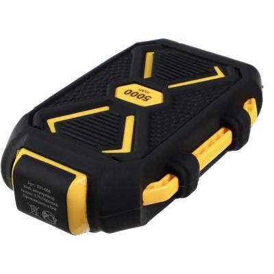 Аккумулятор мобильный, 5000мАч, IP67 (ударопр, влаго-водонепрон.корпус), фонарь, пластик-5