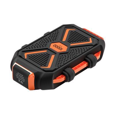 Аккумулятор мобильный, 10000 мАч, USB, 2А, защита IP67, фонарик, Чёрный-4