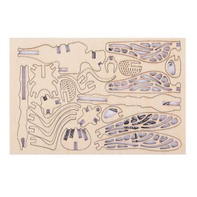 287-372 ХОББИХИТ Конструктор деревянный 3D сборная модель, 10х15х0,5см, 10 дизайнов