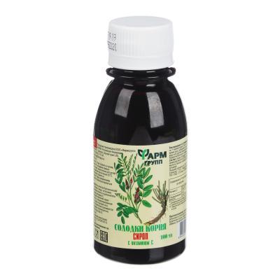 015-113 БАД Сироп солодки корня с витамином С, 100мл, инд.уп.
