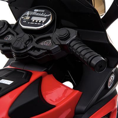 "834-019 ИГРОЛЕНД Электромотоцикл ""Спортбайк"", свет, звук, 2х6V4.5AH, PP, 95x50x66см, ЭВА сидушка и колеса"