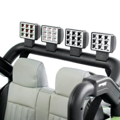 834-036 BY Электромобиль полноприводный, свет, звук, 12V10AH PP, металл, 150x95x77см, зеленый милитари
