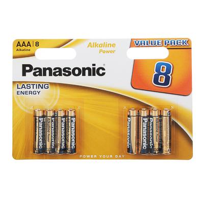 917-073 Батарейки Panasonic 8шт Alkaline Power LR03/286 BL8, 726782