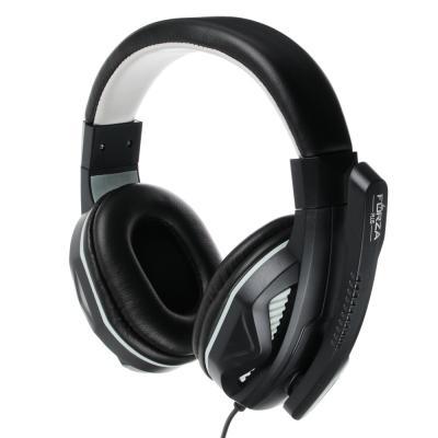 Наушники накладные, с микрофоном, кабель 150см, с регулятором громкости, черно-серые, пластик-2
