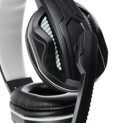 Наушники накладные, с микрофоном, кабель 150см, с регулятором громкости, черно-серые, пластик-4