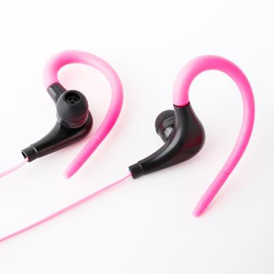 Наушники внутриканальные проводные с креплением за ухо, Спорт, цветные, 120см, микрофон-2