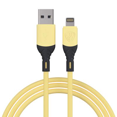 Кабель для зарядки Карнавал, iP, 1м, 2A, наклейки в комплекте, микс цветов