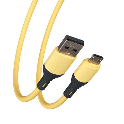 Кабель для зарядки Карнавал Micro USB, 1м, 2А, наклейки в комплекте, 4 цвета, пакет-2