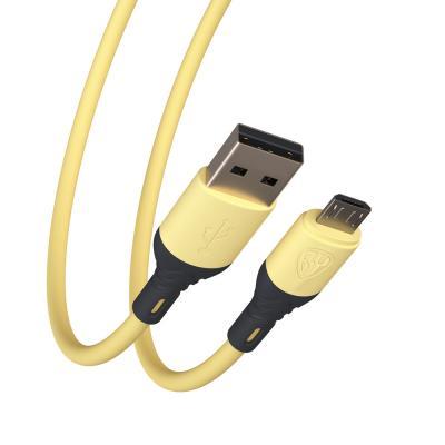 Кабель для зарядки Карнавал Micro USB, 1м, 2А, наклейки в комплекте, 4 цвета, пакет-4
