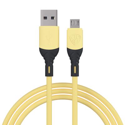 Кабель для зарядки Карнавал Micro USB, 1м, 2А, наклейки в комплекте, 4 цвета, пакет