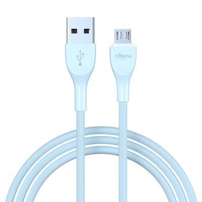 Кабель для зарядки Акварель Micro USB, 1м, 2А, 4 цвета, пакет-5