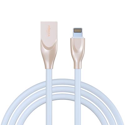 Кабель для зарядки Flat White, iP, 1м, 2A, пластик, белый
