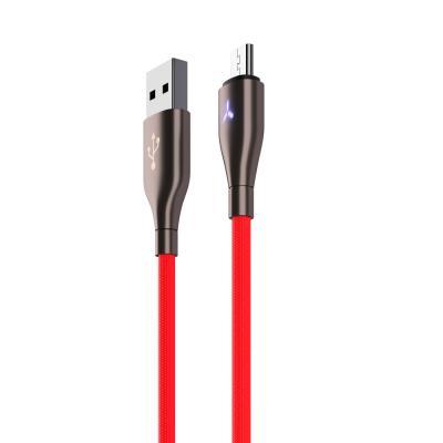 Кабель для зарядки с индикатором, Micro USB, Вегас, Быстрая зарядка QC 3.0, 1м, микс цветов-2