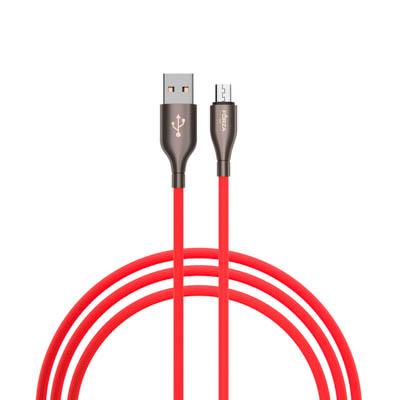 Кабель для зарядки с индикатором, Micro USB, Вегас, Быстрая зарядка QC 3.0, 1м, микс цветов
