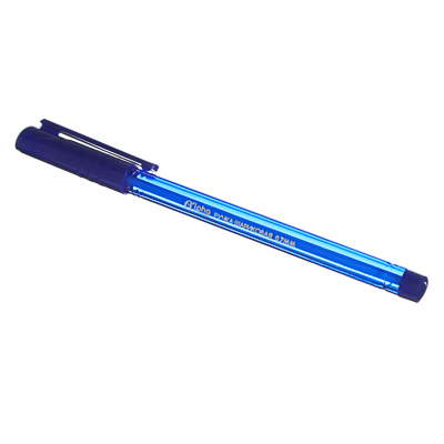"""627-073 Ручка шариковая синяя """"Альфа"""", с тонированным трехгранным корпусом, 0,7 мм, инд. маркировка"""